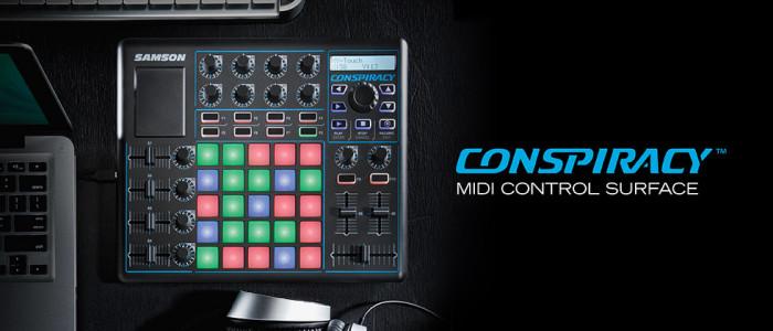 Samson Conspiracy: Nueva superficie de control MIDI